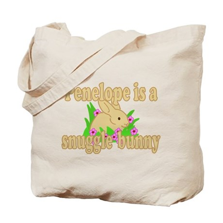 Penelope is a Snuggle Bunny Tote Bag