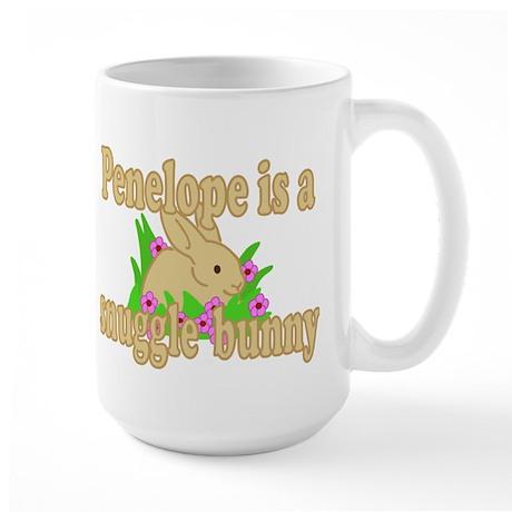 Penelope is a Snuggle Bunny Large Mug