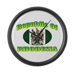 Republic of Rhodesia Large Wall Clock