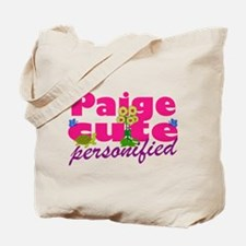 Cute Paige Tote Bag