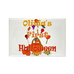 First Halloween Olivia Rectangle Magnet