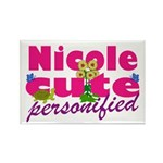 Cute Nicole Rectangle Magnet (100 pack)