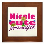 Cute Nicole Framed Tile