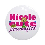 Cute Nicole Ornament (Round)