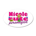 Cute Nicole 22x14 Oval Wall Peel