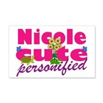 Cute Nicole 22x14 Wall Peel