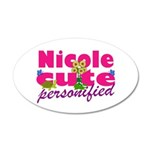 Cute Nicole 38.5 x 24.5 Oval Wall Peel