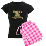 Nicole is a Snuggle Bunny Women's Dark Pajamas