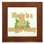Nicole is a Snuggle Bunny Framed Tile