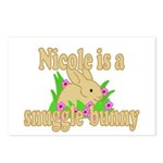 Nicole is a Snuggle Bunny Postcards (Package of 8)