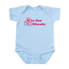 Baby Name Blocks - Nicole Infant Bodysuit