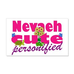 Cute Nevaeh 22x14 Wall Peel
