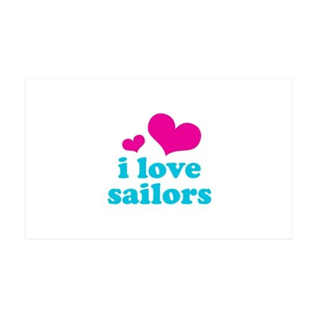 i love sailors (pink/blue) 38.5 x 24.5 Wall Peel