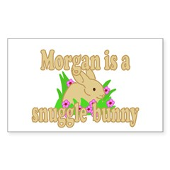 Morgan is a Snuggle Bunny Decal