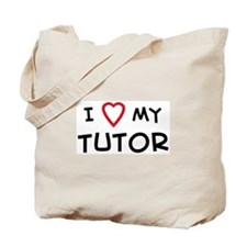 I Love Tutor Tote Bag