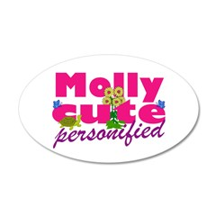 Cute Molly 38.5 x 24.5 Oval Wall Peel