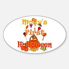 First Halloween Molly Sticker (Oval)
