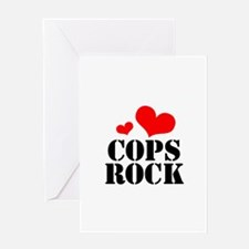 cops rock (red/black) Greeting Card