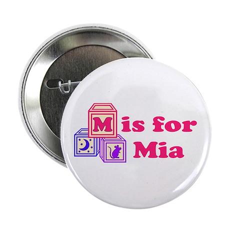 "Baby Blocks Mia 2.25"" Button (100 pack)"