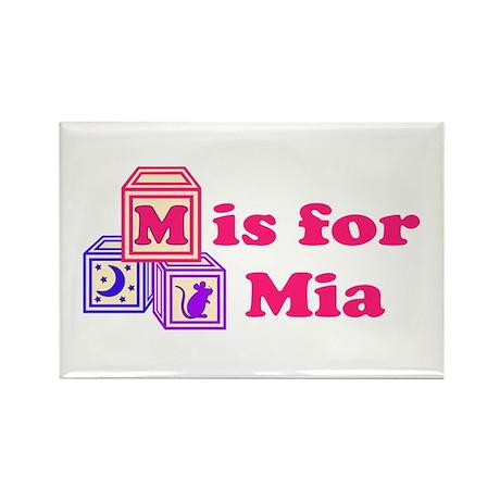 Baby Blocks Mia Rectangle Magnet