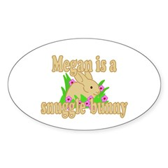 Megan is a Snuggle Bunny Decal