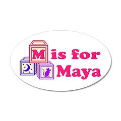 Baby Blocks Maya 22x14 Oval Wall Peel