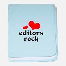 editors rock (red/black) baby blanket