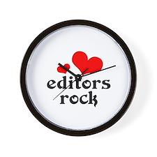 editors rock (red/black) Wall Clock
