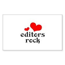 editors rock (red/black) Decal