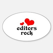 editors rock (red/black) Sticker (Oval)