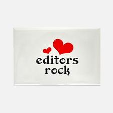 editors rock (red/black) Rectangle Magnet