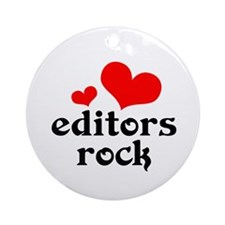 editors rock (red/black) Ornament (Round)