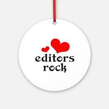 editors rock (red/black) Ornament (Round)