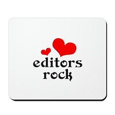 editors rock (red/black) Mousepad