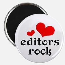editors rock (red/black) Magnet