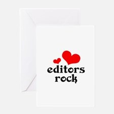 editors rock (red/black) Greeting Card