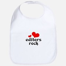 editors rock (red/black) Bib