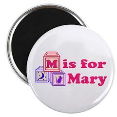 Baby Blocks Mary Magnet