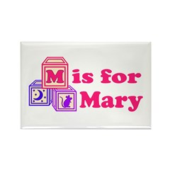 Baby Blocks Mary Rectangle Magnet (10 pack)
