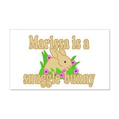 Marissa is a Snuggle Bunny 22x14 Wall Peel