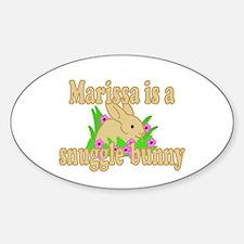 Marissa is a Snuggle Bunny Sticker (Oval)