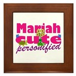 Cute Mariah Framed Tile