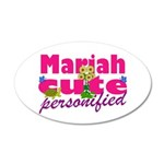 Cute Mariah 22x14 Oval Wall Peel