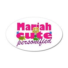 Cute Mariah 38.5 x 24.5 Oval Wall Peel