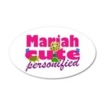 Cute Mariah 38.5 x 24.5 Oval Wall Peel