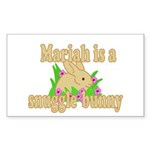 Mariah is a Snuggle Bunny Sticker (Rectangle 10 pk