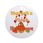 First Halloween Mariah Ornament (Round)