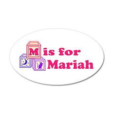 Baby Blocks Mariah 22x14 Oval Wall Peel