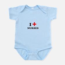 i heart nurses (red/black) Infant Bodysuit