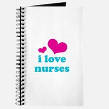 i love nurses (pink/blue) Journal